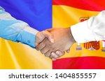 business handshake on the... | Shutterstock . vector #1404855557