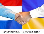 business handshake on the... | Shutterstock . vector #1404855854
