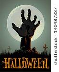halloween background   Shutterstock .eps vector #140487337