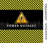 power outage  warning poster in ...   Shutterstock .eps vector #1404899801