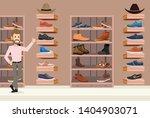 store shoes men 2d illustration | Shutterstock .eps vector #1404903071