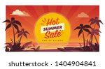 promotional hot summer sale... | Shutterstock .eps vector #1404904841