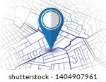 blue pin showing location on... | Shutterstock .eps vector #1404907961
