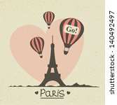 romantic greeting card with...   Shutterstock . vector #140492497