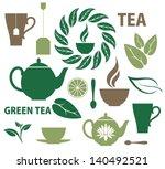 tea. icon set. vector... | Shutterstock .eps vector #140492521