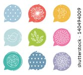 colorful speech bubble set with ... | Shutterstock .eps vector #140494009