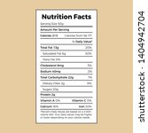 nutrition facts label template... | Shutterstock .eps vector #1404942704
