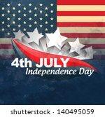 vector creative american flag... | Shutterstock .eps vector #140495059