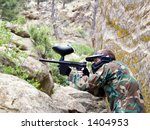 playing paintball in montana. | Shutterstock . vector #1404953