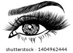 illustration with woman's eye ... | Shutterstock .eps vector #1404962444