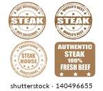 set of grunge rubber stamps... | Shutterstock .eps vector #140496655