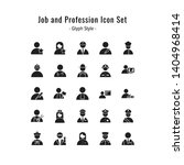 job and profession icons vector.... | Shutterstock .eps vector #1404968414