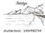 antalya skyline sketch. antalya ... | Shutterstock .eps vector #1404980744