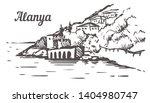 alanya shipyard tersane sketch. ... | Shutterstock .eps vector #1404980747
