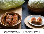 cabbage leaves stuffed with... | Shutterstock . vector #1404981941