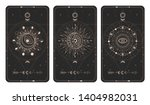 vector set of three dark... | Shutterstock .eps vector #1404982031