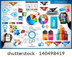 infographic elements   set of... | Shutterstock .eps vector #140498419