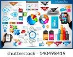 infographic elements   set of... | Shutterstock .eps vector #140498419