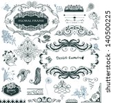 collection of hand drawn design ... | Shutterstock . vector #140500225
