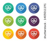 illustration icon for heart and ... | Shutterstock .eps vector #1405011191