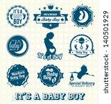 Vector Set  Retro It's A Baby...