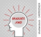 writing note showing graduate...   Shutterstock . vector #1405025624