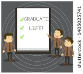 text sign showing graduate life....   Shutterstock . vector #1405025741