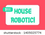 writing note showing house... | Shutterstock . vector #1405025774
