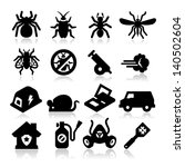 exterminator icons | Shutterstock .eps vector #140502604