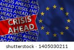 european union and crisis ahead ... | Shutterstock . vector #1405030211