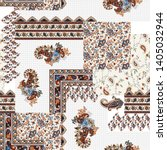 patchwork paisley and border... | Shutterstock .eps vector #1405032944