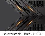 abstract dark metallic arrow... | Shutterstock .eps vector #1405041134