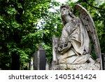 obsolete old stature of angel... | Shutterstock . vector #1405141424
