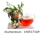 fragrant jasmine tea in a... | Shutterstock . vector #140517169