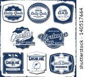 vintage gasoline retro signs... | Shutterstock .eps vector #140517664