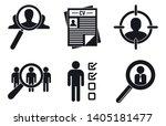 recruitment icons set. simple... | Shutterstock .eps vector #1405181477
