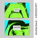 set of vector business card... | Shutterstock .eps vector #1405201457