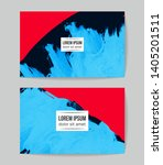 set of vector business card... | Shutterstock .eps vector #1405201511