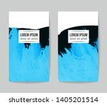 set of vector business card... | Shutterstock .eps vector #1405201514