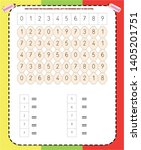 find  count and write ... | Shutterstock .eps vector #1405201751