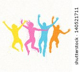 jumping people mosaic   vector... | Shutterstock .eps vector #140521711
