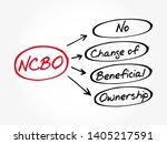 ncbo   no change of beneficial... | Shutterstock .eps vector #1405217591