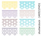 set of colorful seamless... | Shutterstock .eps vector #1405219451