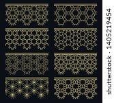 set of golden seamless borders  ... | Shutterstock .eps vector #1405219454