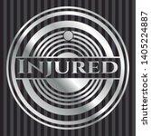 injured silvery badge. vector...   Shutterstock .eps vector #1405224887