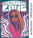 1960s psychedelic art poster... | Shutterstock .eps vector #1405226114