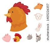 vector design of farm and head... | Shutterstock .eps vector #1405226357
