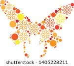 magical floral circle animals... | Shutterstock .eps vector #1405228211