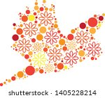 magical floral circle animals... | Shutterstock .eps vector #1405228214