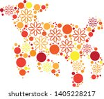magical floral circle animals... | Shutterstock .eps vector #1405228217